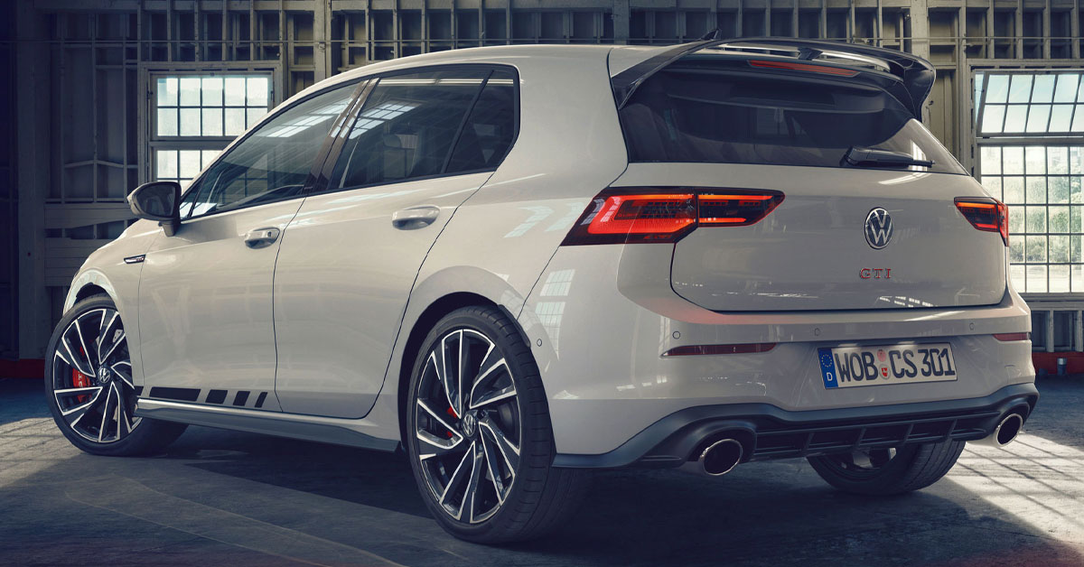 Rear shot of the 2021 VW Golf GTI Clubsport