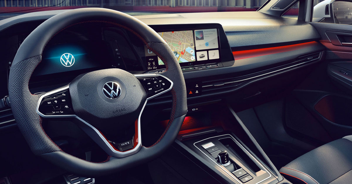 Interior shot of the 2021 VW Golf GTI Clubsport