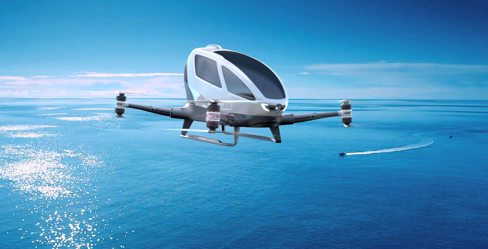 Autonomous Flying Cars Being Trialled in Dubai