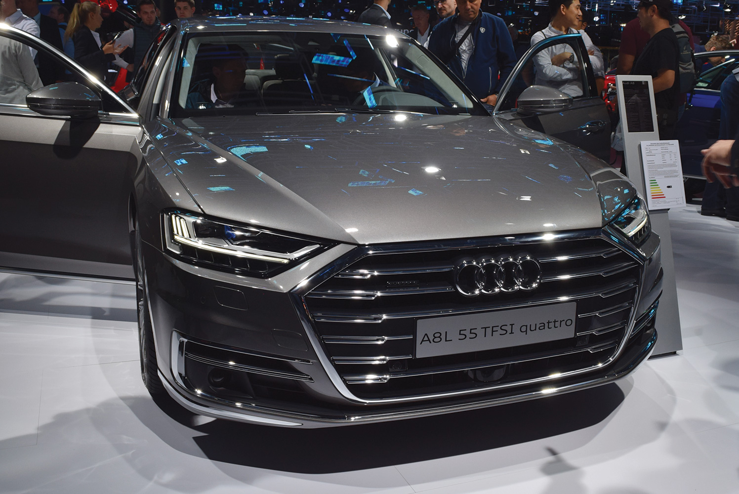 The Audi A8 at the Frankfurt Motor Show